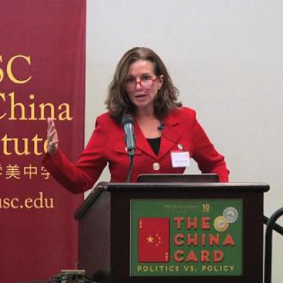 Mary Beth Long at China Card Conference